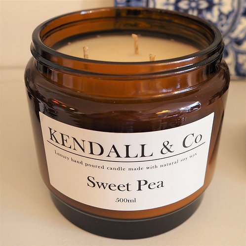 Sweet Pea Soy Wax Candle - 500ml