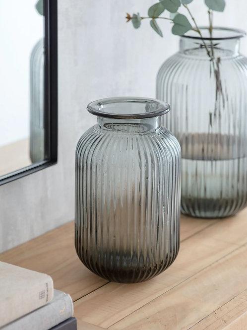 Smoked Glass Vase