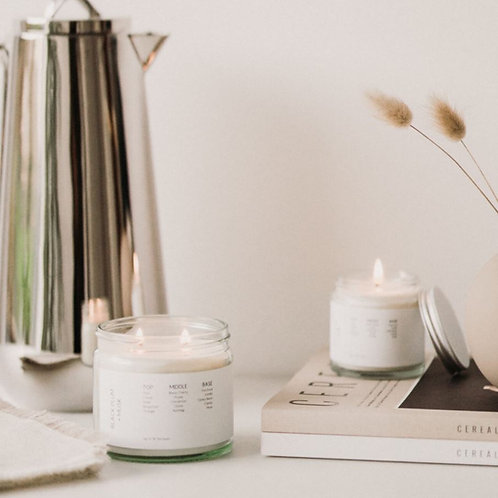 Black Plum & Musk Soy Wax Candle
