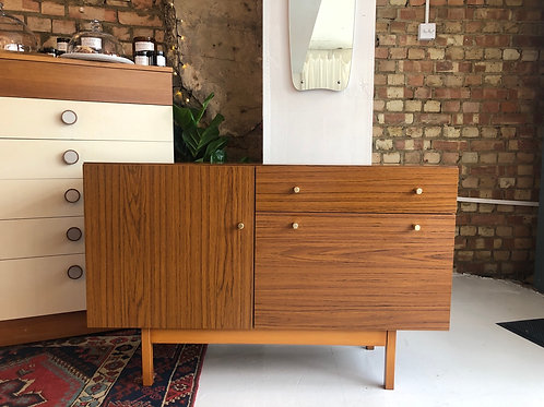 Mid Century Melamine Sideboard with Record  Cabinet