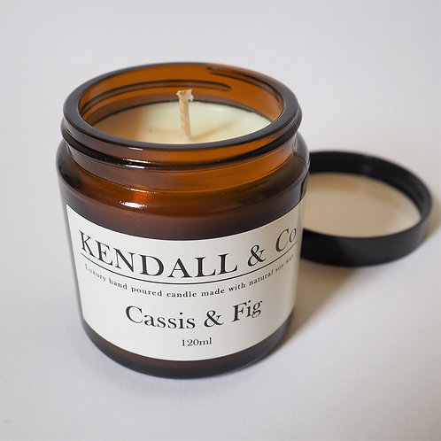Cassis & Fig Soy Wax Candle -120ml