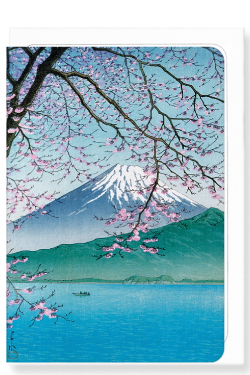 Mount Fuji in the Spring - Greetings Card