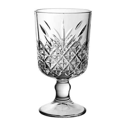 Vintage-Look Wine Glasses
