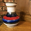 Thumbnail: Striped West German Vase - 202-18