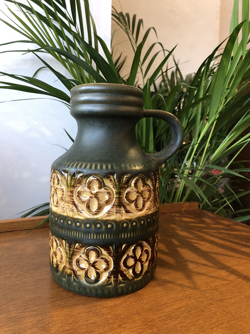 West German Vase - Dark Green - 489-23