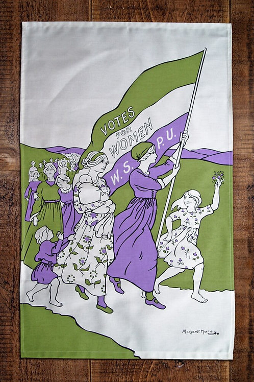 Women's March tea towel