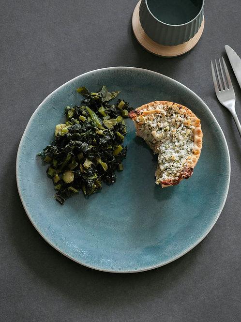 Blue Green dinner plate