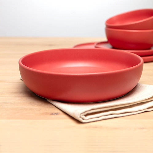 Red Pasta Bowl side view