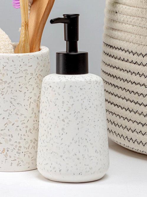 White Terrazzo Soap Dispenser