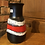 Thumbnail: Red & Black West German Vase - 82-20