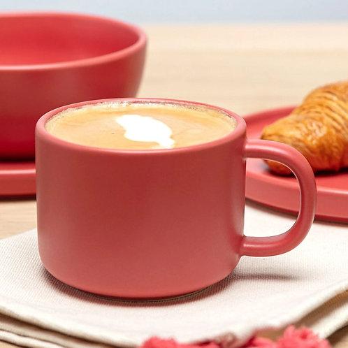 Red Flat White Mug