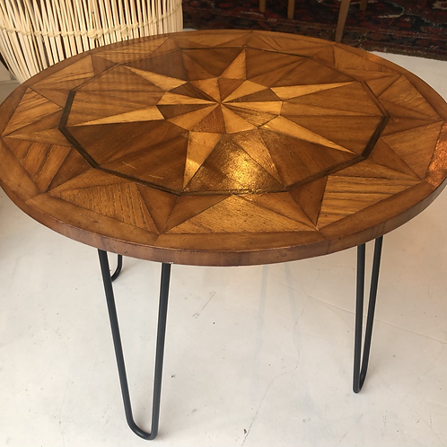1970s Marquetry Coffee Table