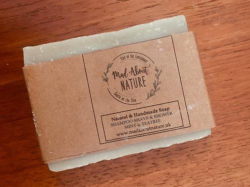 Shampoo, Shave & Shower Bar - Mint & Tea Tree