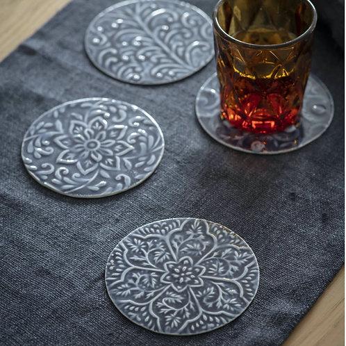 Boho Aluminium Coasters - Set of 4