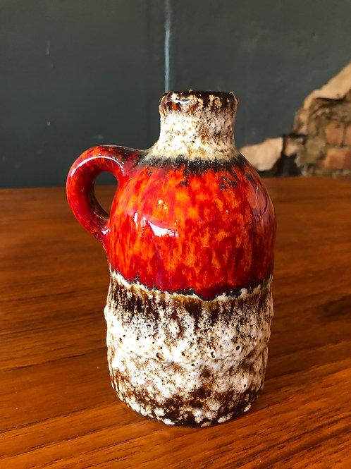 West German Vase - Orange Fat Lava