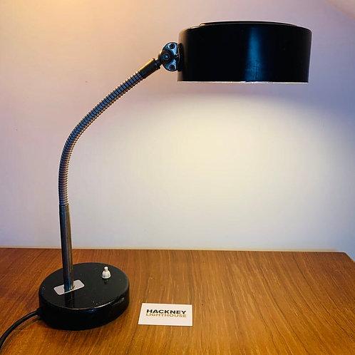 Black Vintage French 50s Desk Lamp