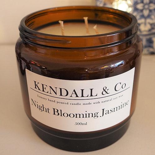 Night Blooming Jasmine Soy Wax Candle - 500ml