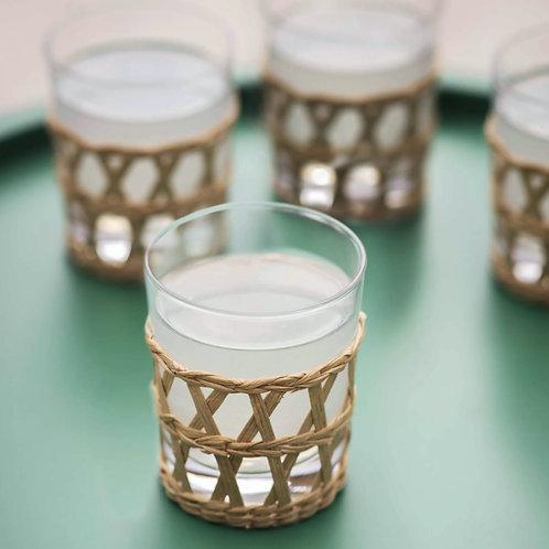 Glass & Rattan Tumblers