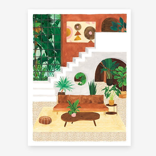 Vintage Living Room - Art Print