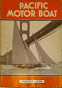pacific motor boating cover, aug 1938, n
