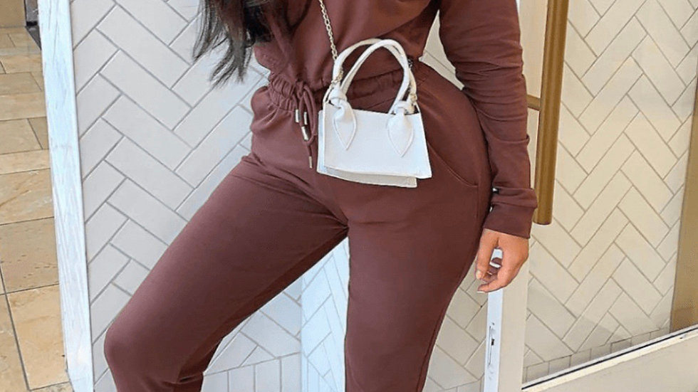 Cropped hoodie and jogger