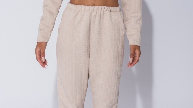 Quilted Cropped Jogger Set