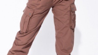 Elastic waist cargo Trousers