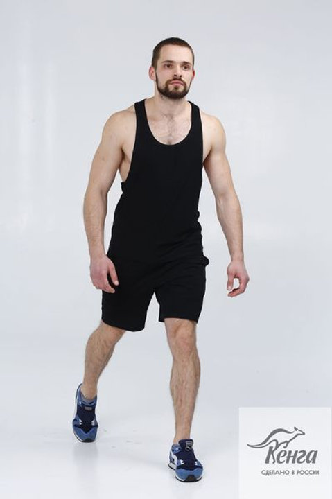 Комплект актив Майка открытая +шорты с карманами