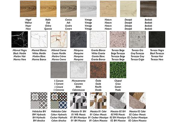 Diseños de platos de ducha Stone 3D de Duplach. azulejosmadridonline.es