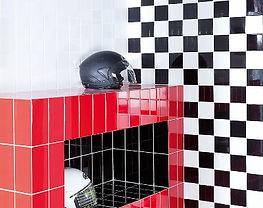 Ambiente azulejo 10x10 colores. Ceramhome Azulejos Roman.