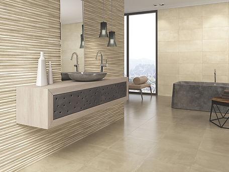 Azulejo suite one vison 31x61/ azulejo one beige 31x61. azulejos gala, roca azulejos, azulejos economicos.