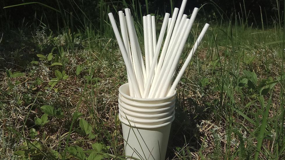 Трубочки для коктейлей бумажные