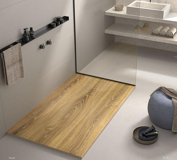 Plato de ducha madera roble Stone 3D Duplach.