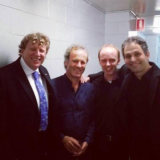 Left to right: Piers Lane, David Seliig, Jacob Davey, Benjamin Martin