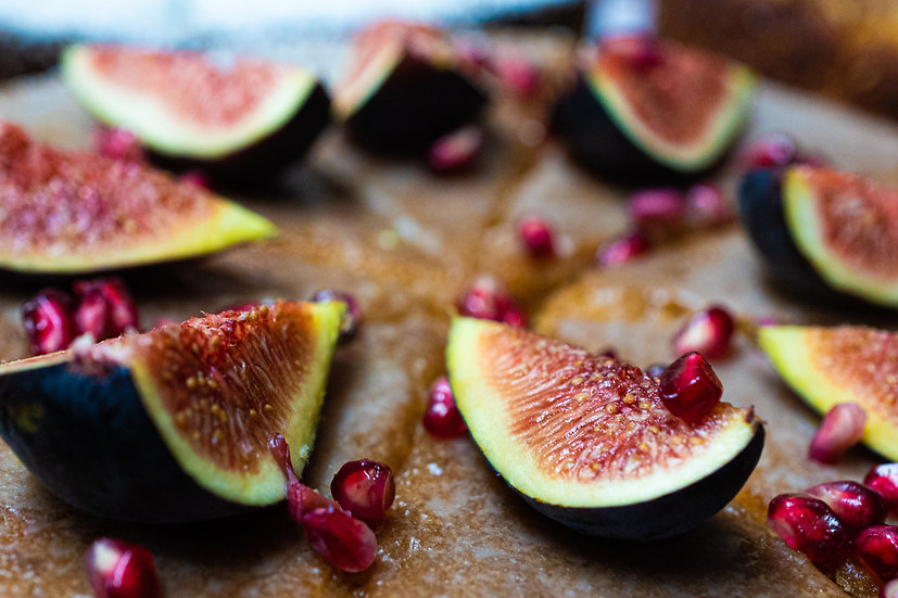 Vegan Orange Blossom with Pomegranate and Fig