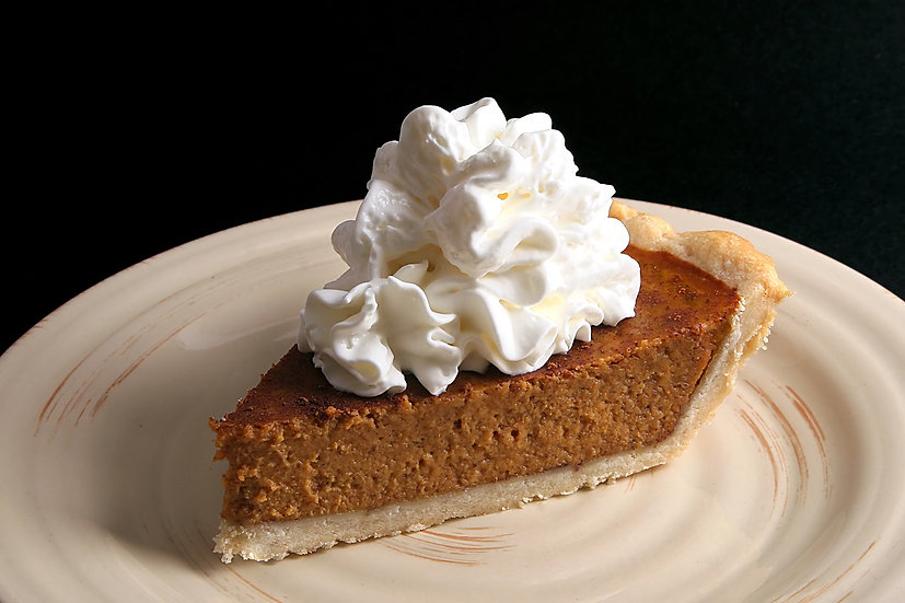 Pumpkin Ganache Caramel Pie with Whipped Cream and Streusel