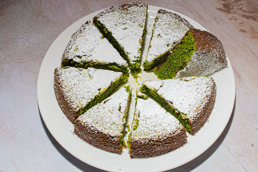 Gluten Free Matcha Olive Oil Cake