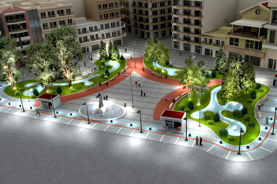"""Διαμόρφωση κεντρικής πλατείας """"ΕΛΕΥΘΕΡΙΑΣ"""" στην Κατερίνη"""