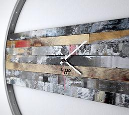 orologio a muro legno e ferro uhr bazzo.
