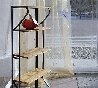 libreria legno e ferro industriall bazzo