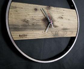 orologio a muro da parete in legno e fer