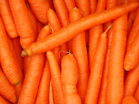 Eat your carrots, they help you see in the dark