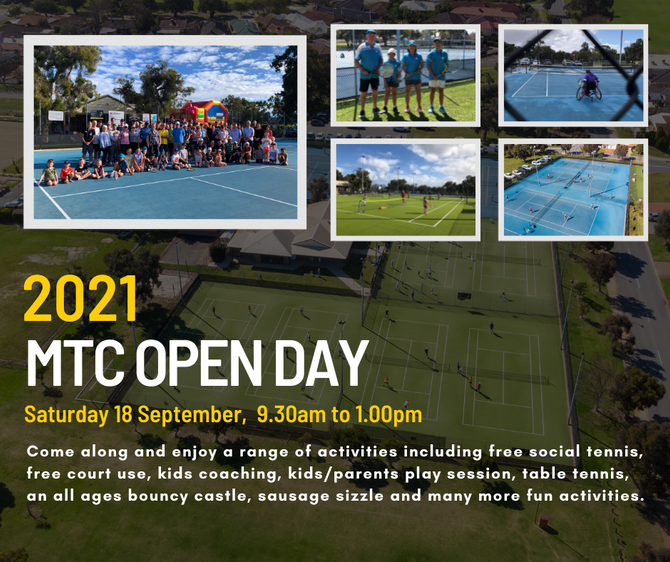 Enjoy a fun-filled morning at our 2021 MTC Open Day