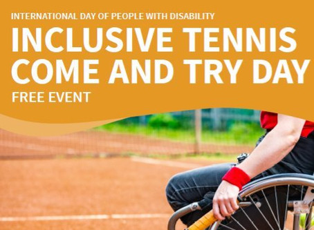 Inclusive Tennis Come and Try Day – 4 December 2019