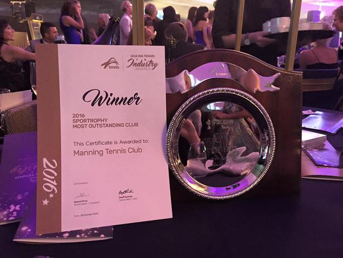 Manning Tennis Club - 2016 WA Club of the Year
