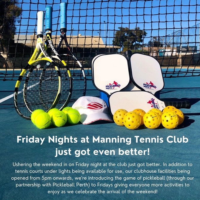 Pickleball Perth and Manning Tennis Club forms ongoing partnership