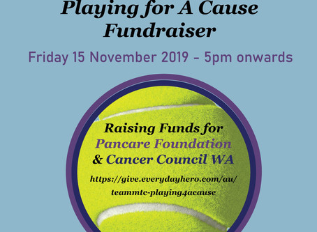 Join MTC to play for a Cause on Friday 15 November