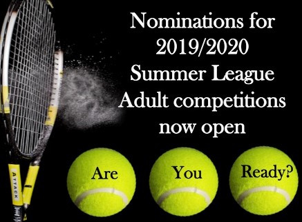 Calling Adult competition players - 2019/2020 Summer nomination now open