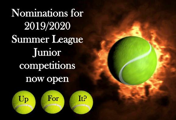 Summer Junior Tennis League Nominations now open till 6 September 2019