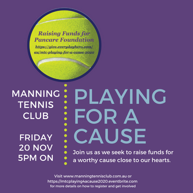 Playing for a Cause Fundraiser – Friday 20 November 2020